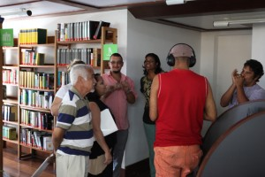 Brasilien Recording session during workshop at Goethe-Institut in Salvador Brazil