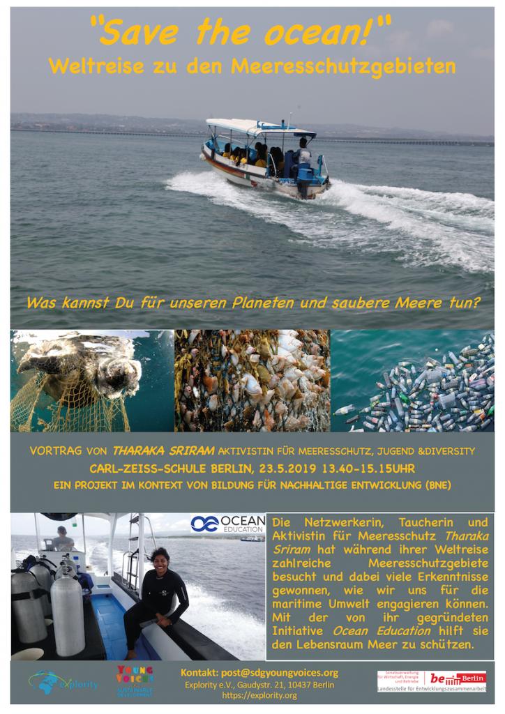 """Explority organisiert Vortrag zum Meeresschutz """"Save the Ocean!"""" an der Carl-Zeiss-Oberschule in Berlin"""